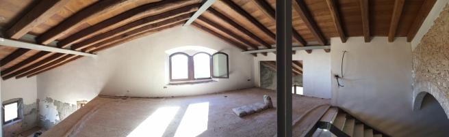 attic during